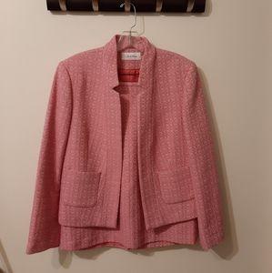 Calvin Klein 2 piece suit short skirt & blazer